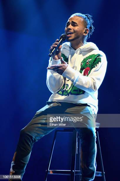 Ozuna performs onstage during rehearsals for the 19th annual Latin GRAMMY Awards at MGM Grand Hotel Casino on November 14 2018 in Las Vegas Nevada