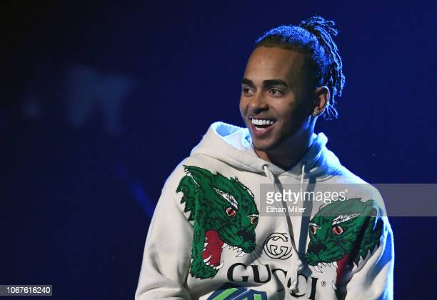 Ozuna performs onstage during rehearsals for the 19th annual Latin GRAMMY Awards at MGM Grand Garden Arena on November 14 2018 in Las Vegas Nevada