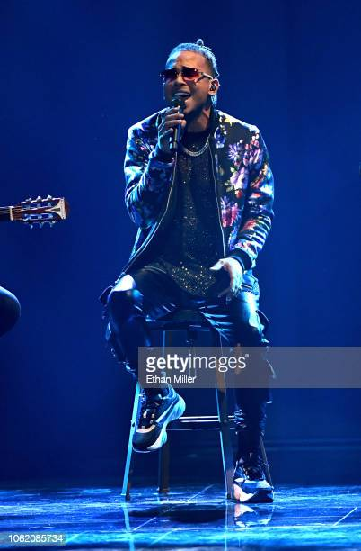 Ozuna performs onstage during the 19th annual Latin GRAMMY Awards at MGM Grand Garden Arena on November 15 2018 in Las Vegas Nevada