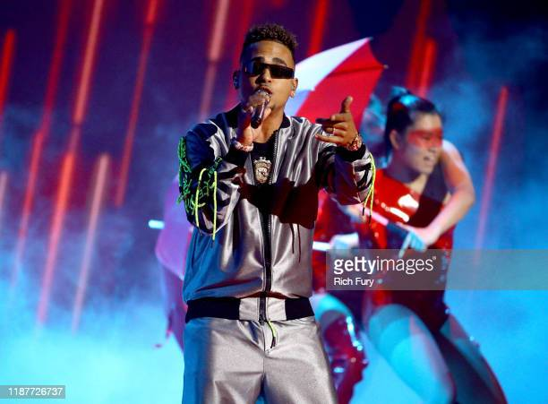 Ozuna performs onstage during the 20th annual Latin GRAMMY Awards at MGM Grand Garden Arena on November 14 2019 in Las Vegas Nevada