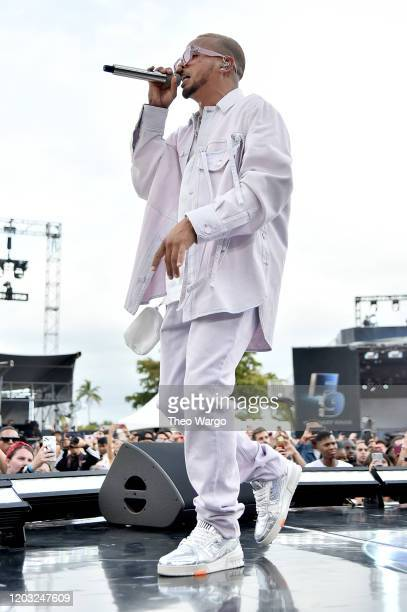 Ozuna performs onstage during Universal Pictures Presents The Road To F9 Concert and Trailer Drop on January 31 2020 in Miami Florida