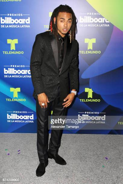 Ozuna poses in the press room during the Billboard Latin Music Awards at Watsco Center on April 27 2017 in Coral Gables Florida