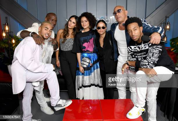 Ozuna, Tyrese Gibson, Jordana Brewster, Nathalie Emmanuel, Michelle Rodriguez, Vin Diesel and Ludacris attend Universal Pictures Presents The Road To...