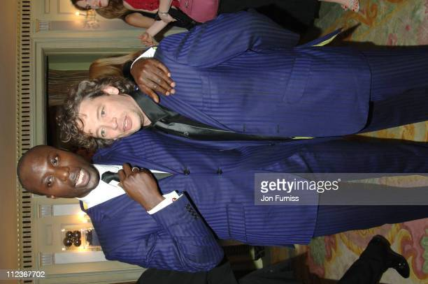 Ozwald Boateng and Dexter Fletcher wearing same suit