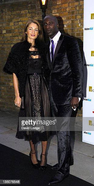 Ozwald Boateng and Guest during 2006 Fortune Forum Summit Outside Arrivals at Lower Thames Walk in London Great Britain