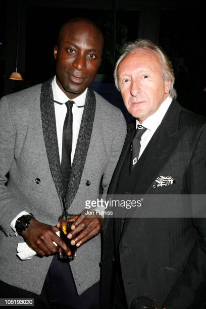 Ozwald Boateng and Harold Tillman attends the launch of 'Wool Week' organised by The Campaign For Wool at Selfridges on October 11 2010 in London...