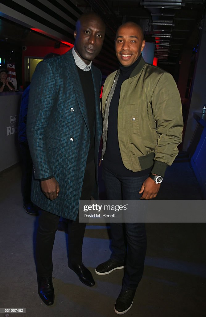 Ozwald Boateng (L) and Thierry Henry attend the NBA Global Game London 2017 after party at The O2 Arena on January 12, 2017 in London, England.