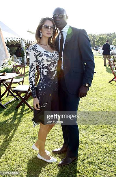 Ozwald Boateng and wife Guynel Boateng during The Gulf Cooperation Council Trophy June 20 2007 at Guards Polo Club in Windsor Great Britain