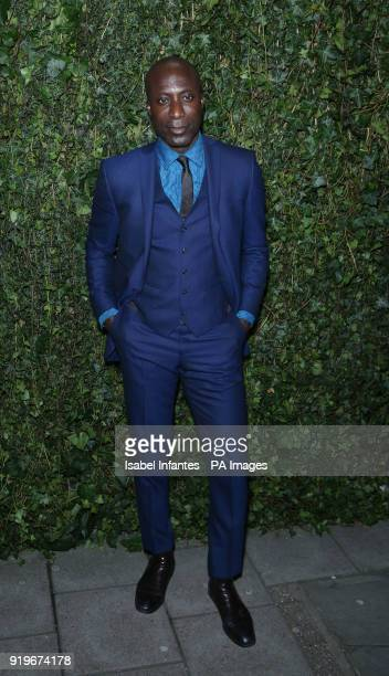 Ozwald Boateng arriving at the Charles Finch and Chanel preBafta party at the Mark's Club in Mayfair London