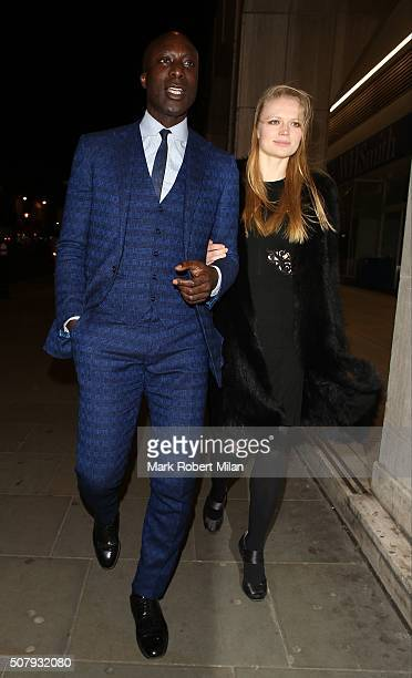Ozwald Boateng attending the 'Pride And Prejudice And Zombies' after party at Bounce on February 1 2016 in London England