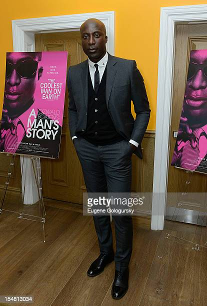 Ozwald Boateng attends 'A Man's Story' New York Premiere at Crosby Street Hotel on October 26 2012 in New York City