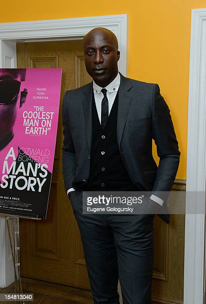 """Ozwald Boateng attends """"A Man's Story"""" New York Premiere at Crosby Street Hotel on October 26, 2012 in New York City."""