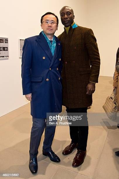 Ozwald Boateng attends the private view for Refraction The Image Of Sense curated by Peter J Amdam at Blain Southern on December 9 2014 in London...