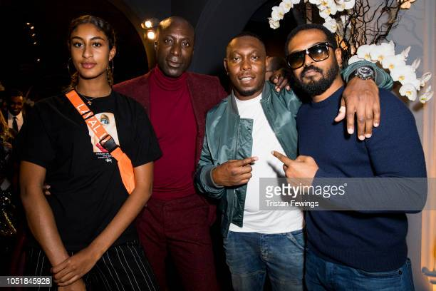 Ozwald Boateng Dizzee Rascal and Noel Clarke attend the 'Black Is The New Black' gala held at the National Portrait Gallery on October 10 2018 in...