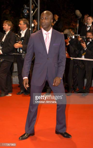 Ozwald Boateng during 2005 Cannes Film Festival Kiss Kiss Bang Bang Premiere at Palais de Festival in Cannes France