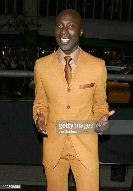 Ozwald Boateng during 'Matrix Reloaded' New York Premiere Outside Arrivals at The Ziegfeld Theater in New York City New York United States