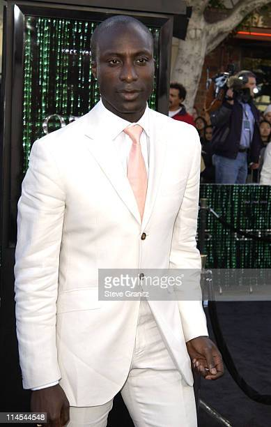Ozwald Boateng during 'The Matrix Reloaded' Premiere at Mann Village Theatre in Westwood California United States