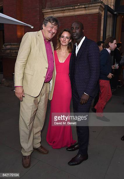 Ozwald Boateng Stephen Fry and guest attend the 2016 VA Summer Party In Partnership with Harrods at The VA on June 22 2016 in London England