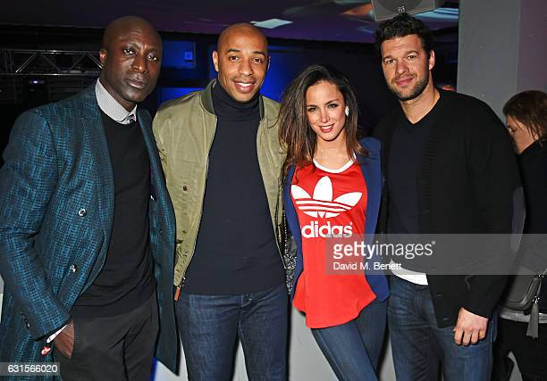 Ozwald Boateng Thierry Henry Natacha Tannous and Michael Ballack attend the NBA Global Game London 2017 after party at The O2 Arena on January 12...