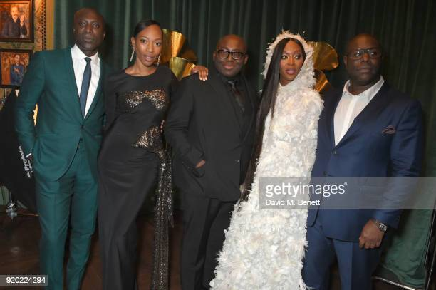 Ozwald Boateng Vanessa Kingori Edward Enninful Naomi Campbell and Steve McQueen attend as Tiffany Co partners with British Vogue Edward Enninful...