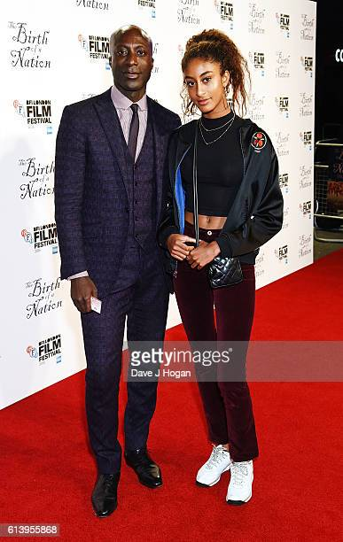 Ozwald Boateng with his daughter Emilia attends 'The Birth Of A Nation' International Premiere screening during the 60th BFI London Film Festival at...