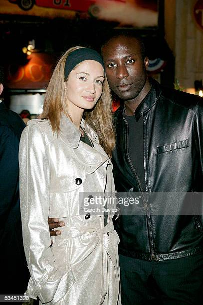 Ozwald Boeteng and wife attend the after party for the UK Premiere of 'The Dukes Of Hazzard' at the Texas Embassy Cantina on August 22 2005 in London...