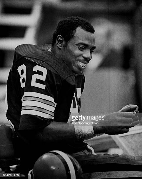 Ozzie Newsome of the Cleveland Browns smiles circa 1980s