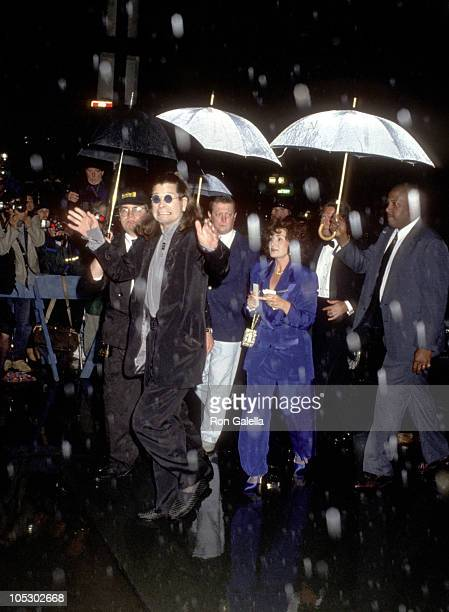 Ozzy and Sharon Osbourne during Wedding of Mariah Carey and Tommy Mottola at St Thomas Episcopal Church/Metropolitan Club in New York City NY United...