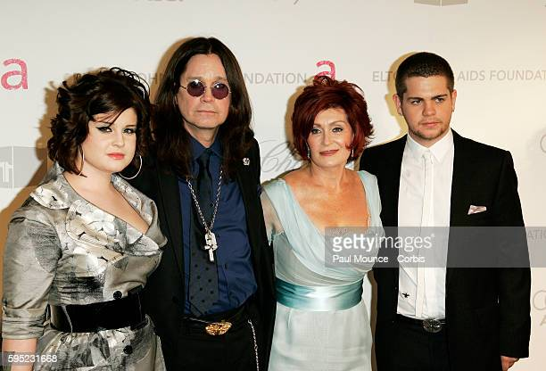 Ozzy and Sharon Osbourne with their children Kelly and Jack arrive at the 15th Annual Academy Awards® Viewing Party and After-Party to benefit the...