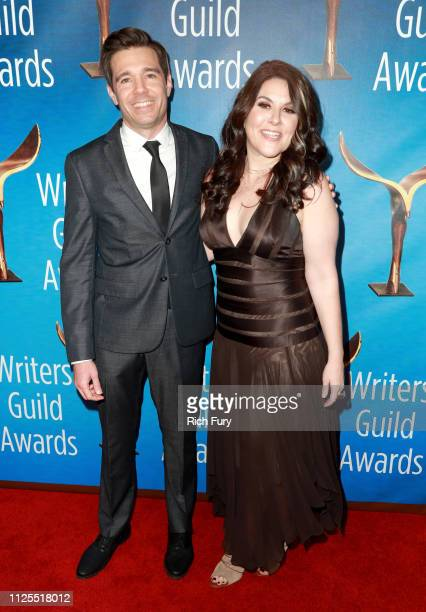 Ozzy Inguanzo and Dava Whisenant attend the 2019 Writers Guild Awards LA Ceremony at The Beverly Hilton Hotel on February 17 2019 in Beverly Hills...