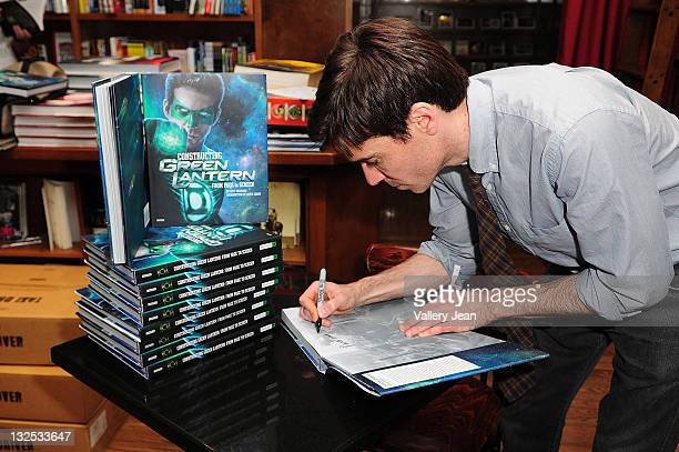 Ozzy Inguanzo signs and discusses copies of his book Constructing Green Lantern at Books and Books on June 25 2011 in Coral Gables Florida