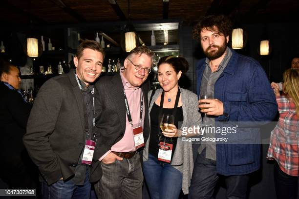 Ozzy Inguanzo Steve Young Dava Whisenant and Maxim Pozdorovkin of Bathtubs Over Broadway attend Above and Beyond/ Discovery Channel Reception at...