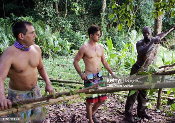 Ozzy Lusth and James Clement during the first episode of Survivor Micronesia Fans vs Favorites
