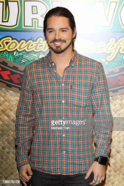 Ozzy Lusth arrives at the Survivor South Pacific finale held at CBS Television City on December 18 2011 in Los Angeles California