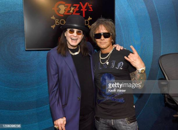 Ozzy Osbourne and Billy Morrison attend the Ozzy Osbourne Album Special on SiriusXM's Ozzy's Boneyard Chanel at the SiriusXM Hollywood Studios at...