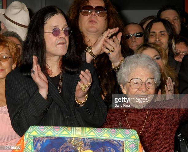 Ozzy Osbourne and Delores Rhoads during Guitarist Randy Rhoads Posthumously Inducted Into Hollywood's Rockwalk at The Rockwalk in Hollywood...