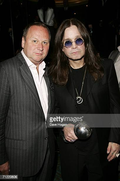 Ozzy Osbourne and entertainment business PR manager Gary Farrow attend the O2 Silver Clef Lunch an annual awards honouring songwriting and...