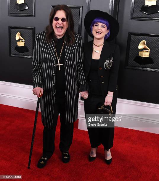 Ozzy Osbourne and Kelly Osbourne arrives at the 62nd Annual GRAMMY Awards at Staples Center on January 26, 2020 in Los Angeles, California.