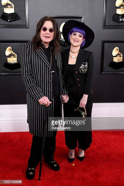 Ozzy Osbourne and Kelly Osbourne attend the 62nd Annual GRAMMY Awards at Staples Center on January 26, 2020 in Los Angeles, California.