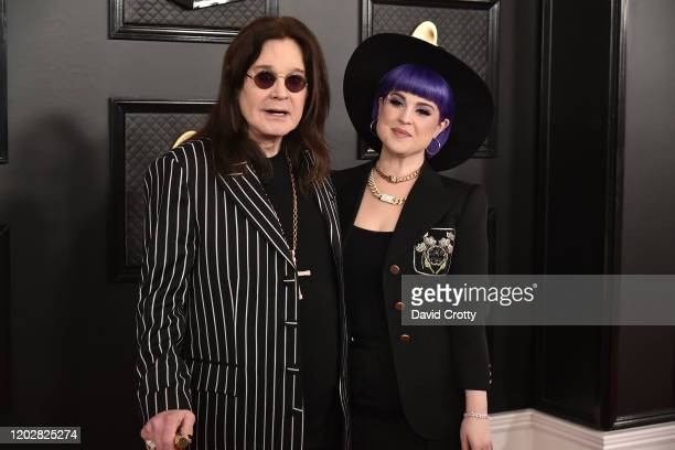 Ozzy Osbourne and Kelly Osbourne attend the 62nd Annual Grammy Awards at Staples Center on January 26, 2020 in Los Angeles, CA.