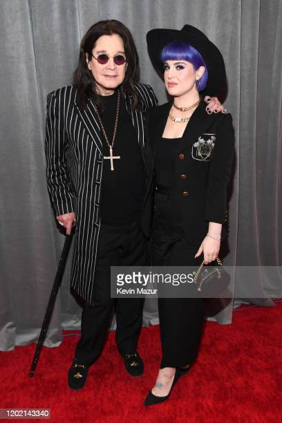 Ozzy Osbourne and Kelly Osbourne attends the 62nd Annual GRAMMY Awards at STAPLES Center on January 26, 2020 in Los Angeles, California.