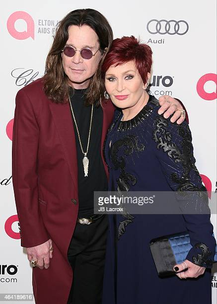 Ozzy Osbourne and Osbourne attend the 23rd Annual Elton John AIDS Foundation Academy Awards Viewing Party on February 22 2015 in West Hollywood...