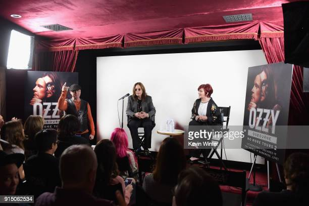 Ozzy Osbourne and Sharon Osbourne at Ozzy Osbourne Announces No More Tours 2 Final World Tour At Press Conference At His Los Angeles Home on February...