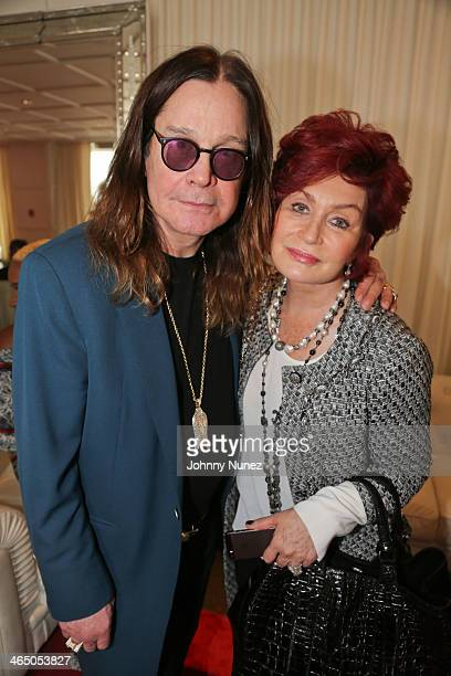 Ozzy Osbourne and Sharon Osbourne attend ASCAP's 2014 GRAMMY Nominee Brunch at SLS Hotel on January 25 2014 in Beverly Hills California