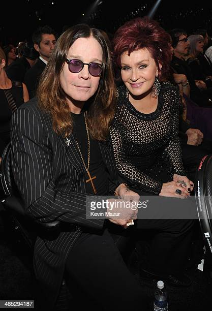Ozzy Osbourne and Sharon Osbourne attend the 56th GRAMMY Awards at Staples Center on January 26 2014 in Los Angeles California