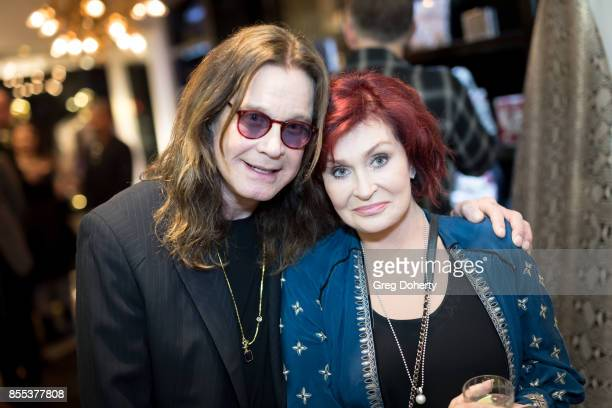 Ozzy Osbourne and Sharon Osbourne attend the Billy Morrison Aude Somnia Solo Exhibition at Elisabeth Weinstock on September 28 2017 in Los Angeles...