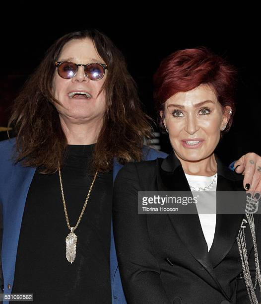 Ozzy Osbourne and Sharon Osbourne attend the Ozzy Osbourne and Corey Taylor special announcement press conference on May 12 2016 in Hollywood...