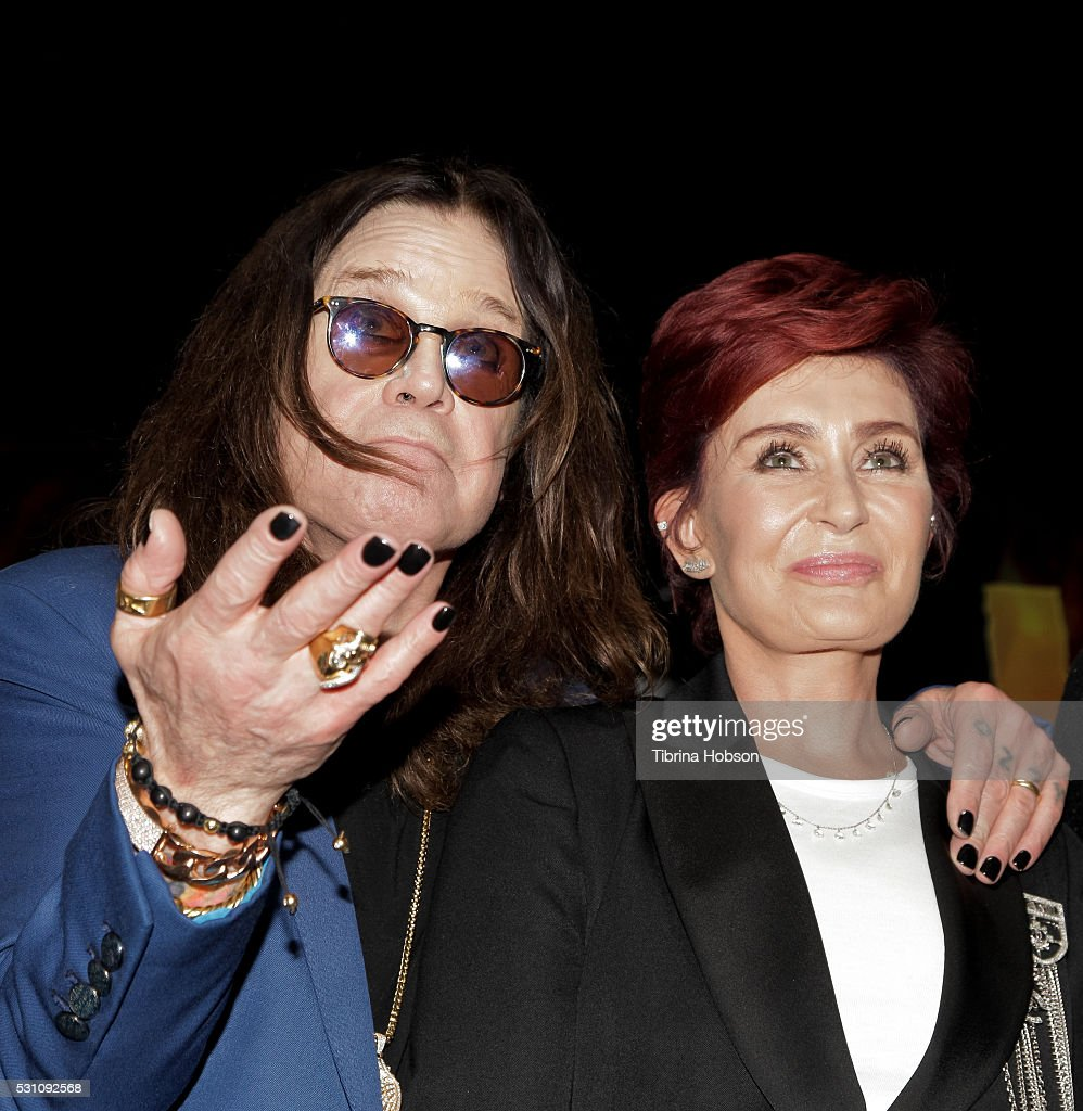 Ozzy Osbourne and Sharon Osbourne attend the Ozzy Osbourne and Corey Taylor special announcement press conference on May 12, 2016 in Hollywood, California.