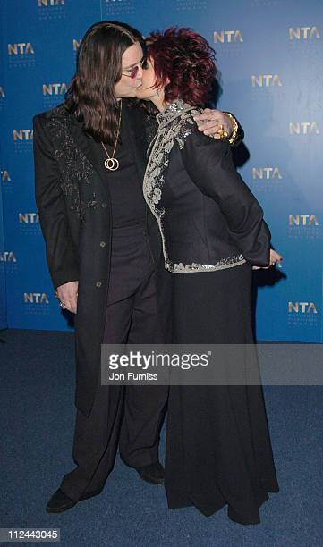 Ozzy Osbourne and Sharon Osbourne during 2004 National Television Awards Pressroom at Royal Albert Hall in London Great Britain