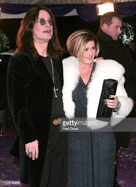 Ozzy Osbourne and Sharon Osbourne during 2005 British Comedy Awards Arrivals at London Television Studios in London Great Britain